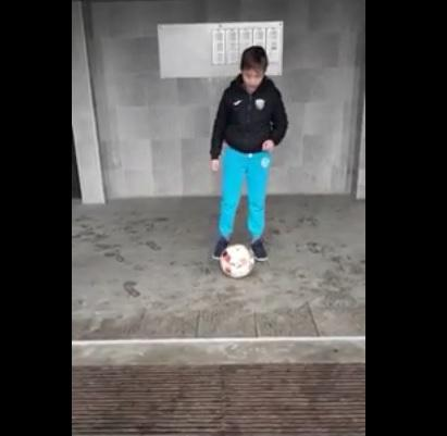 Nogometni trening pred blokom