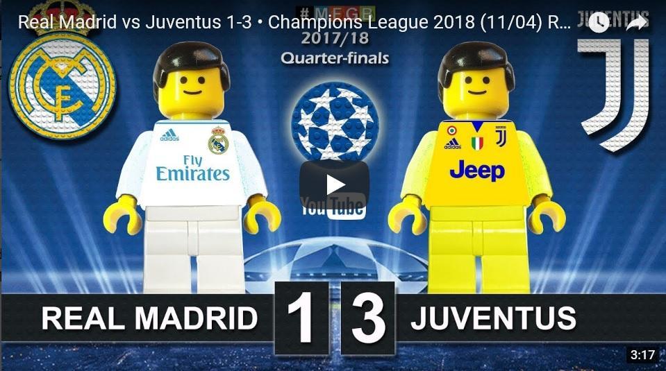 LEGO polfinale Real Madrid proti Juventus