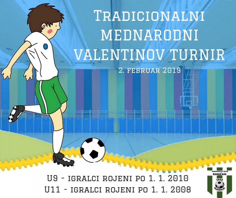 Tradicionalni mednarodni VALENTINOV TURNIR 2019