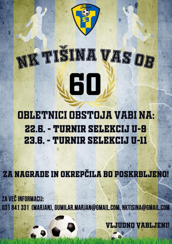 Nogometni turnir ob 60. letnici delovanja NK Tišina